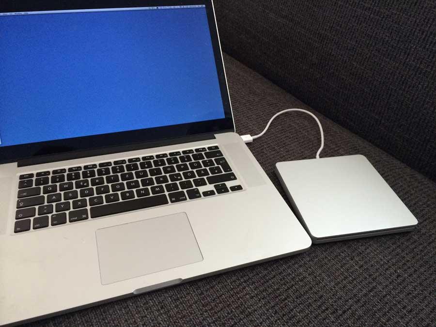 MacBook AIRを使って動画データをDVDに焼く方法